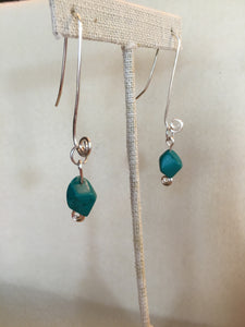 Handmade Sterling Silver Earwires w Turquoise Nugget