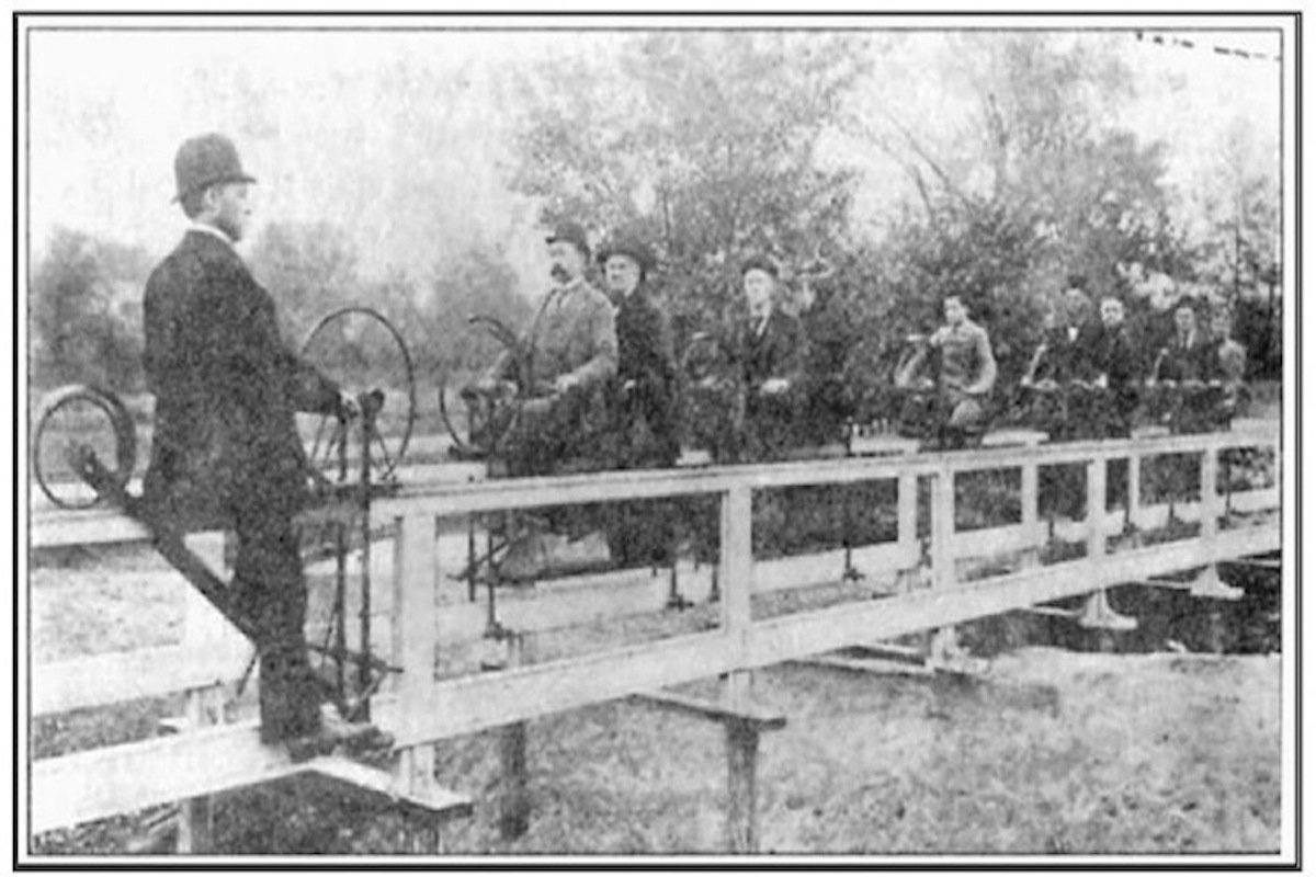 Curious Victorian Inventions: The Bicycle Railway
