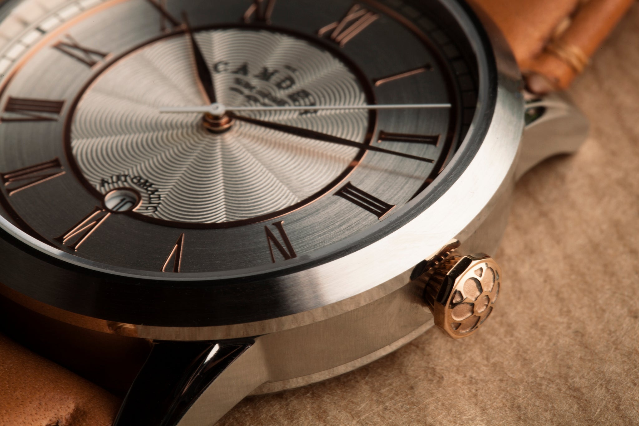 Camden Watch Company Automatic design steel and rose gold