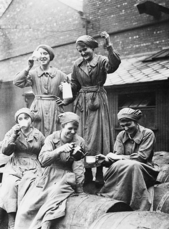 Victorian Factory Workers Tea Break