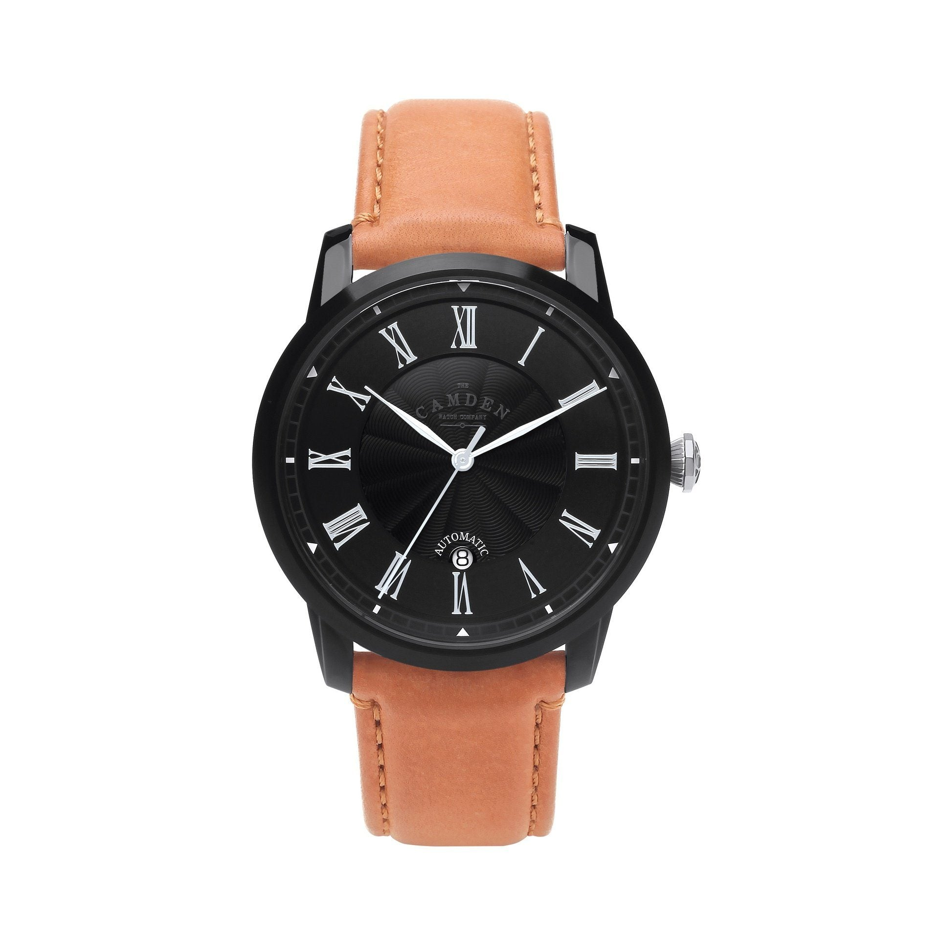 No.29 Automatic Black Case and Tan Leather Watch