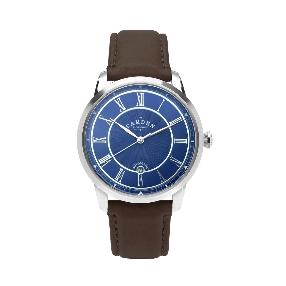No.29 Automatic Steel, Navy and Brown