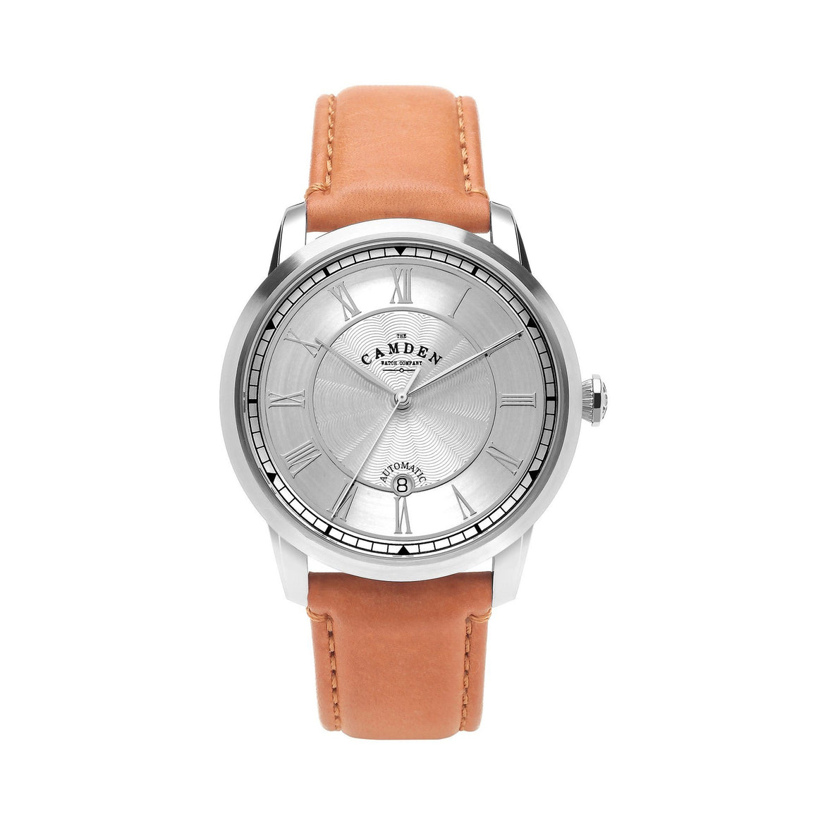 No.29 Automatic Steel Case and Tan Leather Watch