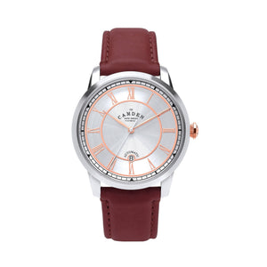 No.29 Automatic Steel Case with Rose Gold and Oxblood Leather Watch