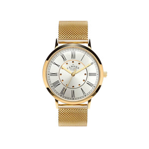 GOLD No.27 WATCH WITH GOLD DIAL AND MESH BRACELET
