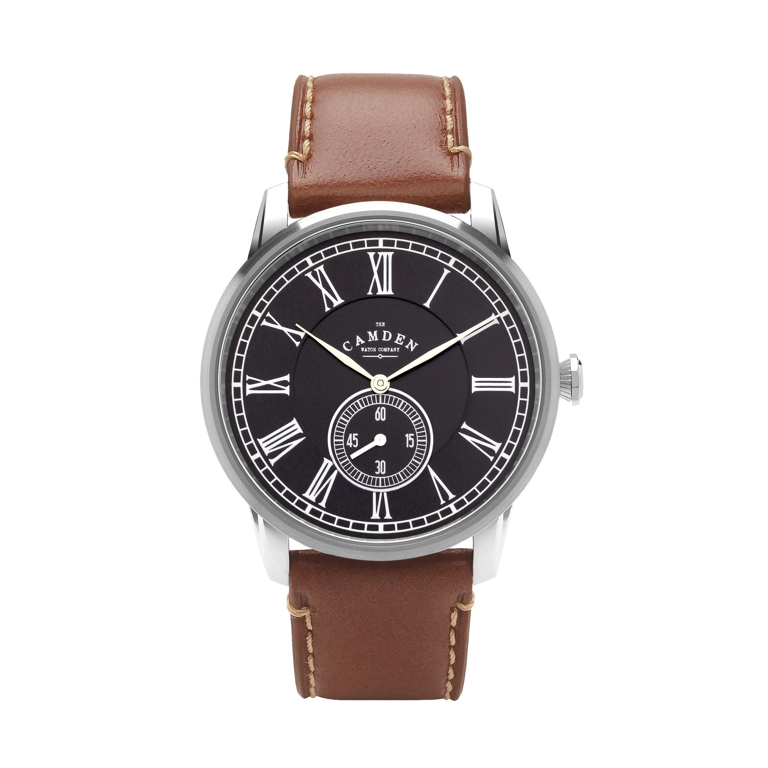 watch tank leather watches cartier pin brown strap citizen classic men s