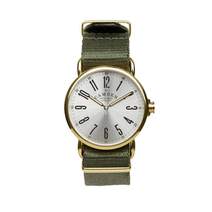 SMALL No.88 Gold and Green Nato