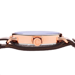 No.88 Unisex Watch Rose Gold and Navy Side