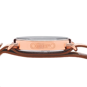 No.88 Rose Gold Unisex Camden Cycling Watch Side