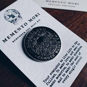 Memento Mori Enamel Badge
