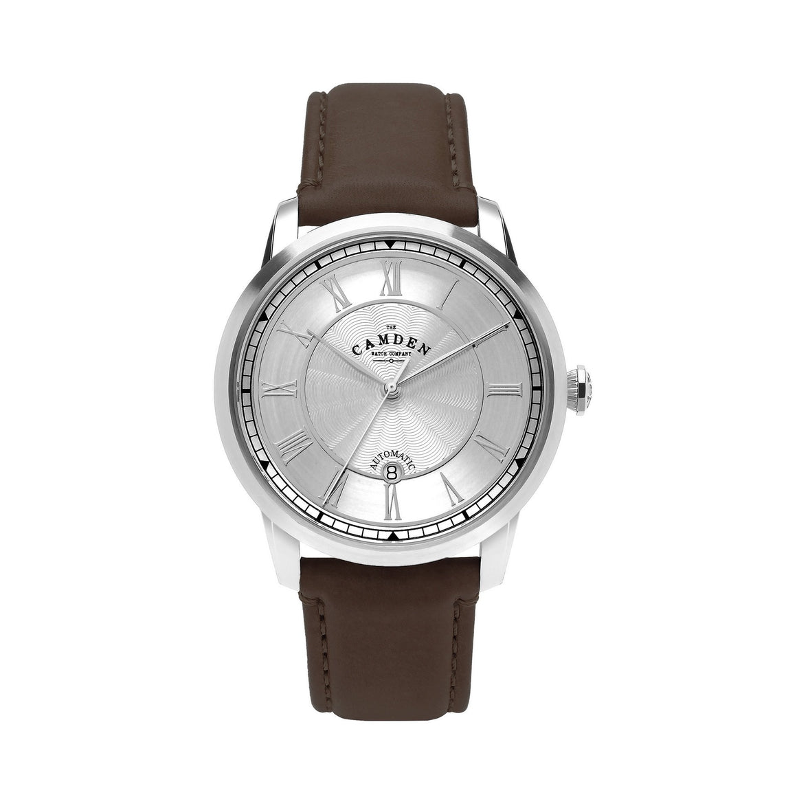 No.29 Automatic Steel Case and Brown Leather Watch