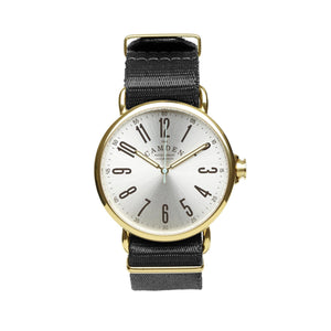 No.88 Gold Watch with Black Nylon Strap