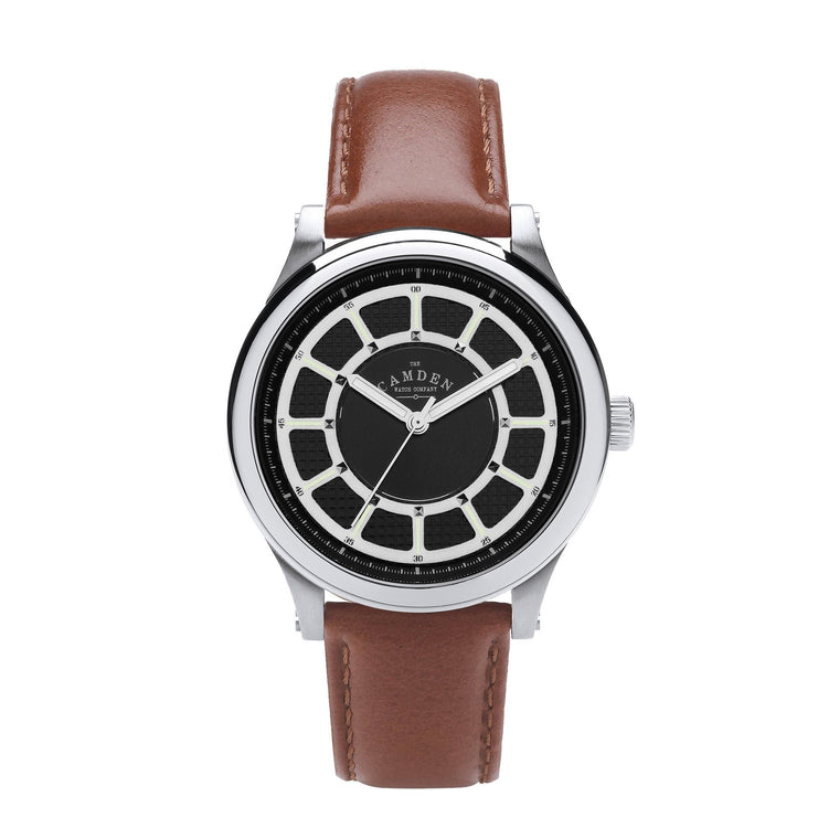No.253 Unisex Watch Steel and Tan Leather Strap