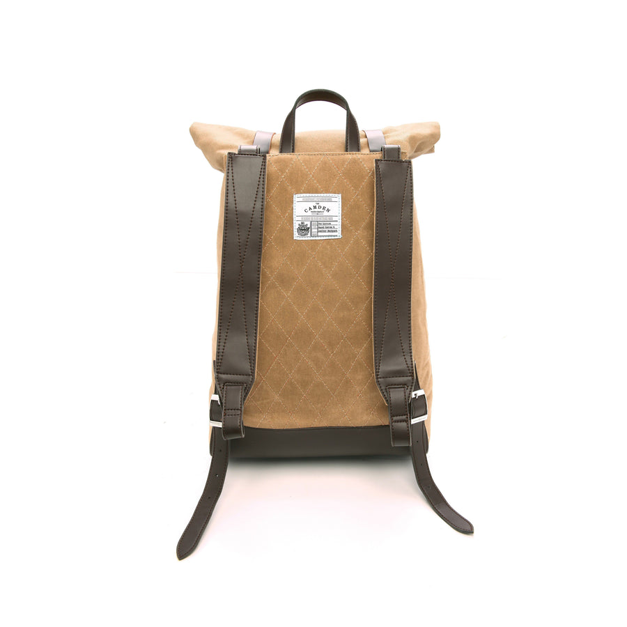 Backpack - Khaki Waxed Canvas Backpack