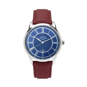 No.29 Automatic Steel, Navy and Oxblood