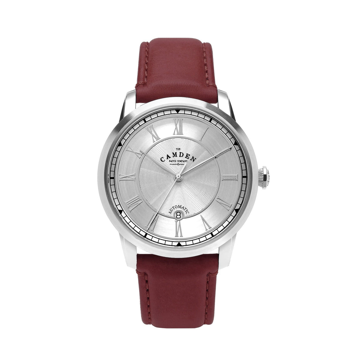 No.29 Automatic Steel Case and Oxblood Leather Watch