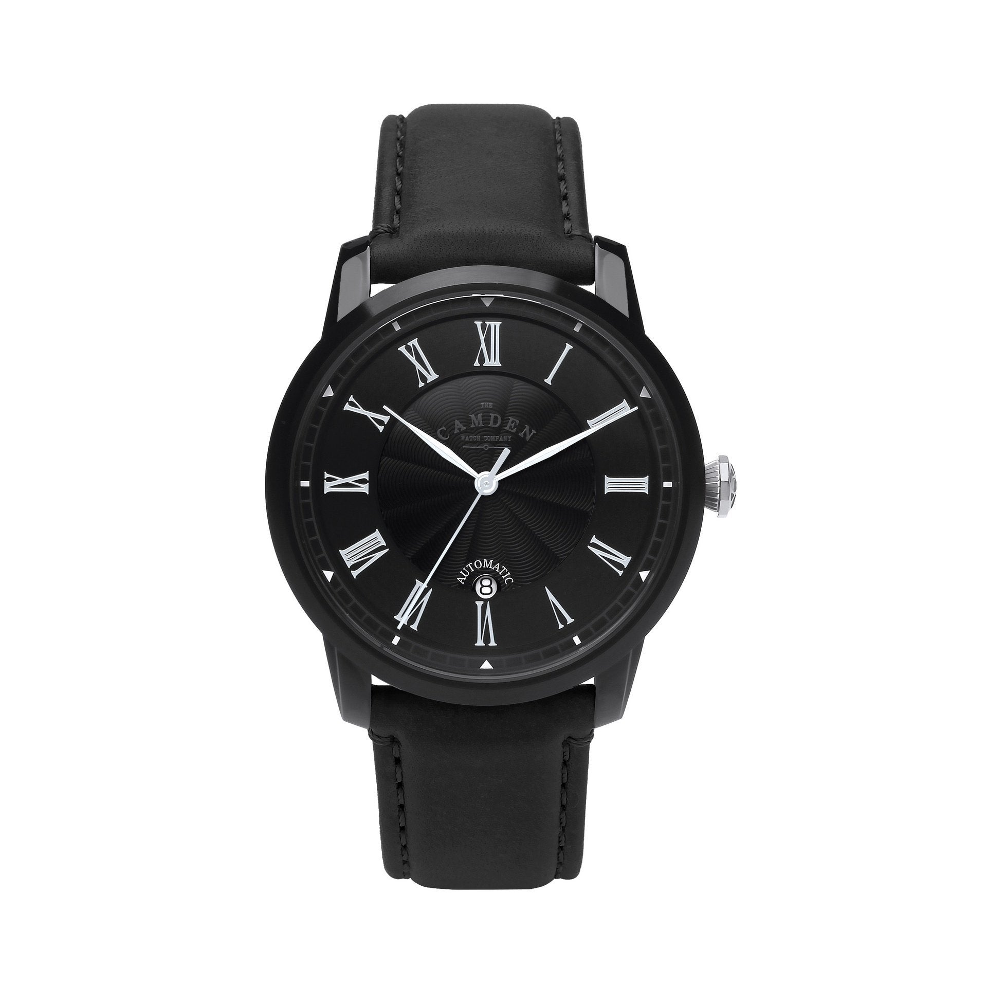 No.29 Automatic Black Case and Black Leather Watch