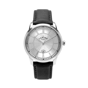 No.29 Automatic Steel Case and Black Leather Watch