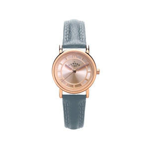 Grey strap and Rose Gold Ladies Watch