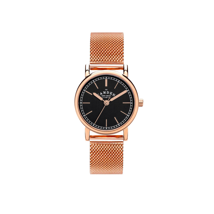 No.24 Mesh, Black and Rose Gold