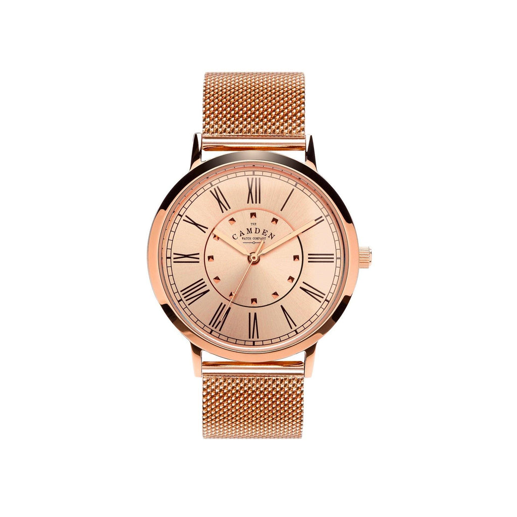 ROSE GOLD No.27 WATCH WITH ROSE GOLD DIAL AND MESH BRACELET.