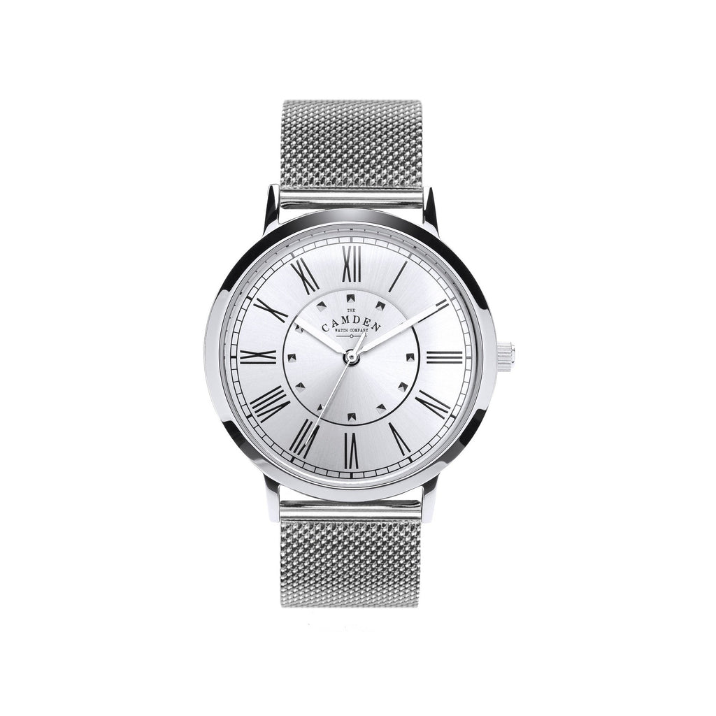 STEEL No.27 WATCH WITH SILVER DIAL AND MESH BRACELET