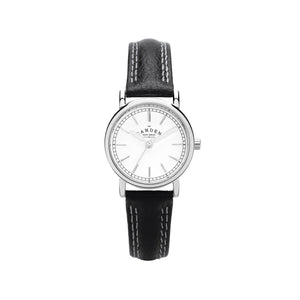 Black Strap And steel Ladies Small Watch