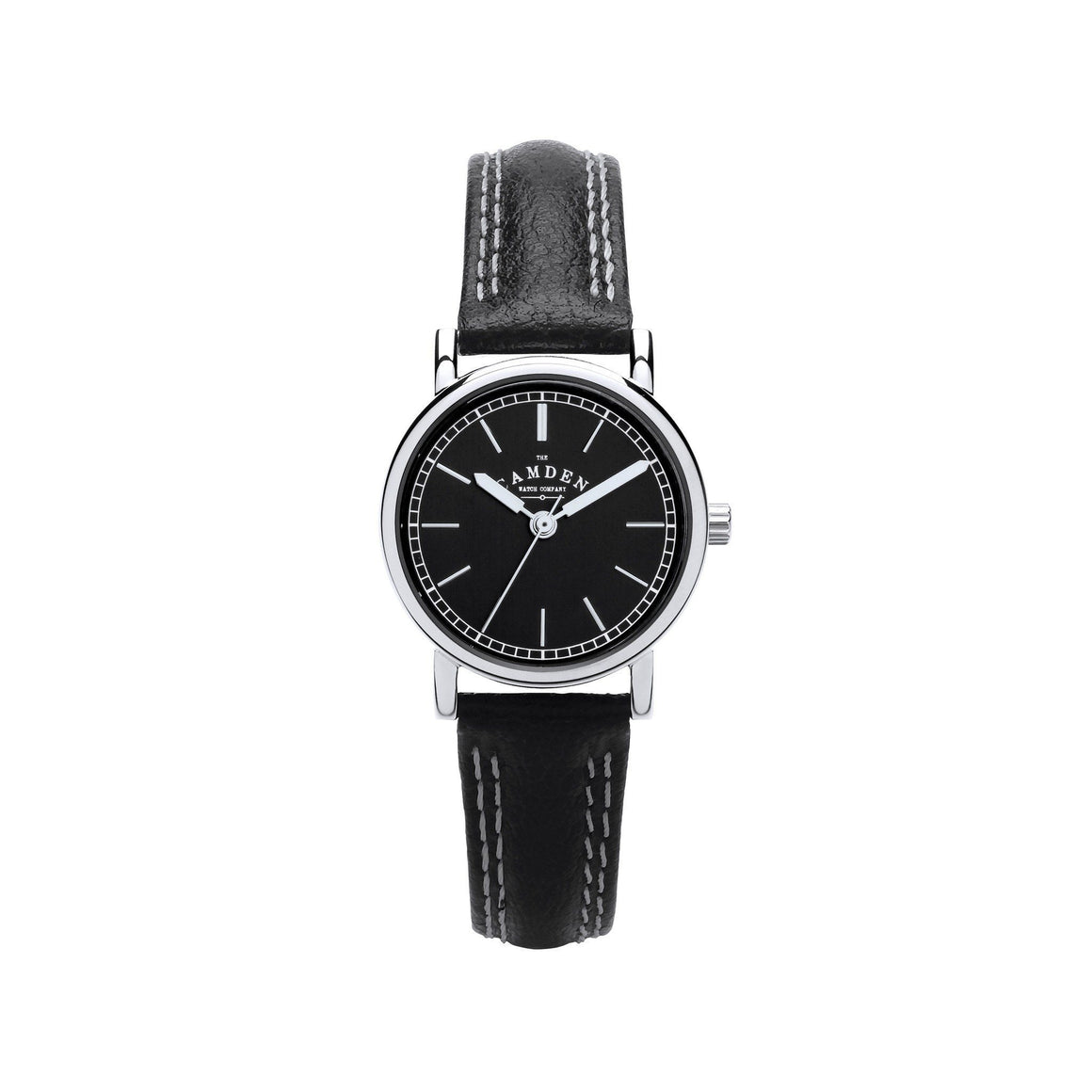 Black Strap black face And steel Ladies Watch