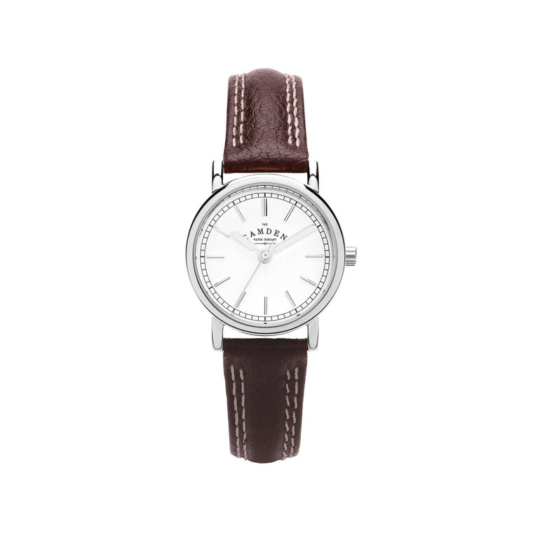No.24 Small Classic Ladies Watch with Brown Strap