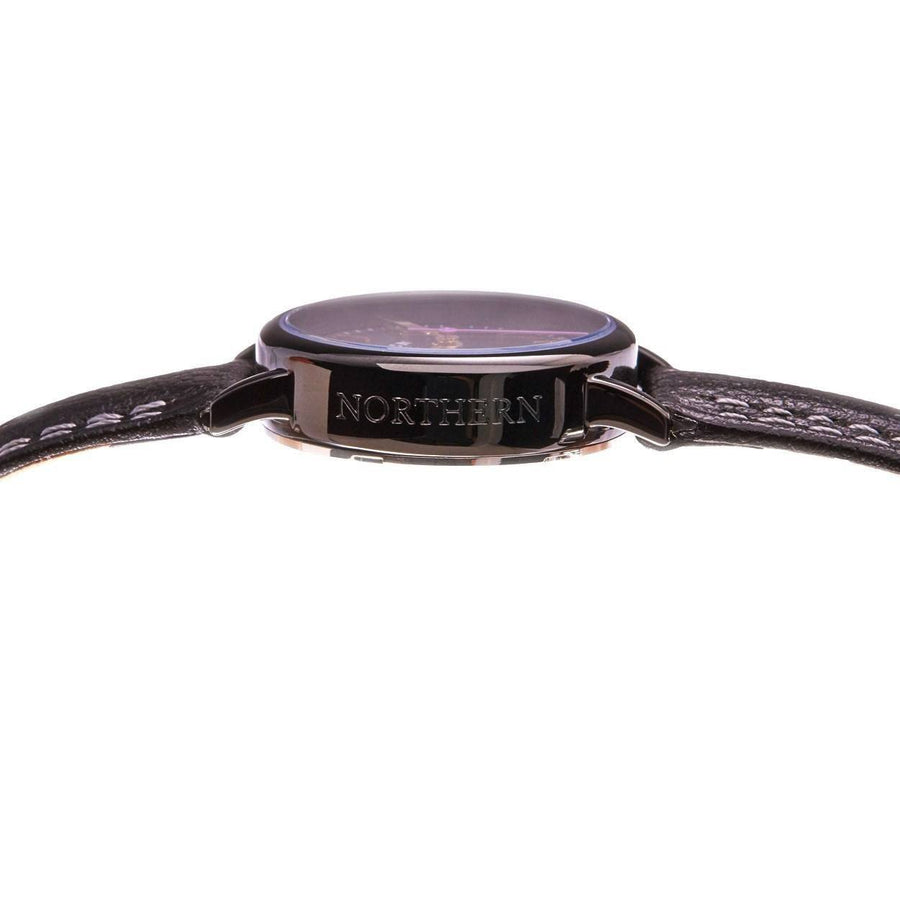 No.24 Black case and Black Mother of Pearl face Ladies Watch