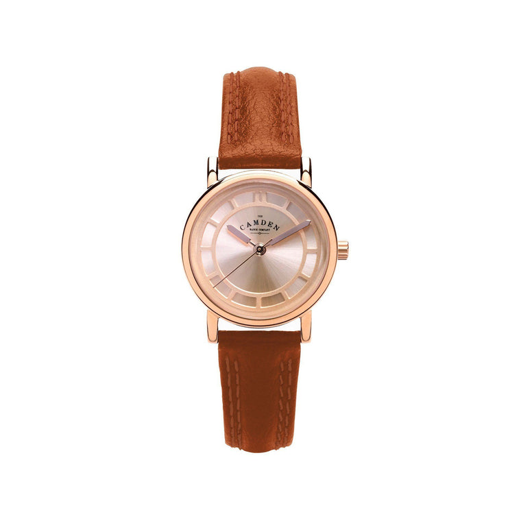 No.24 Tan Strap And Rose Gold Ladies Watch
