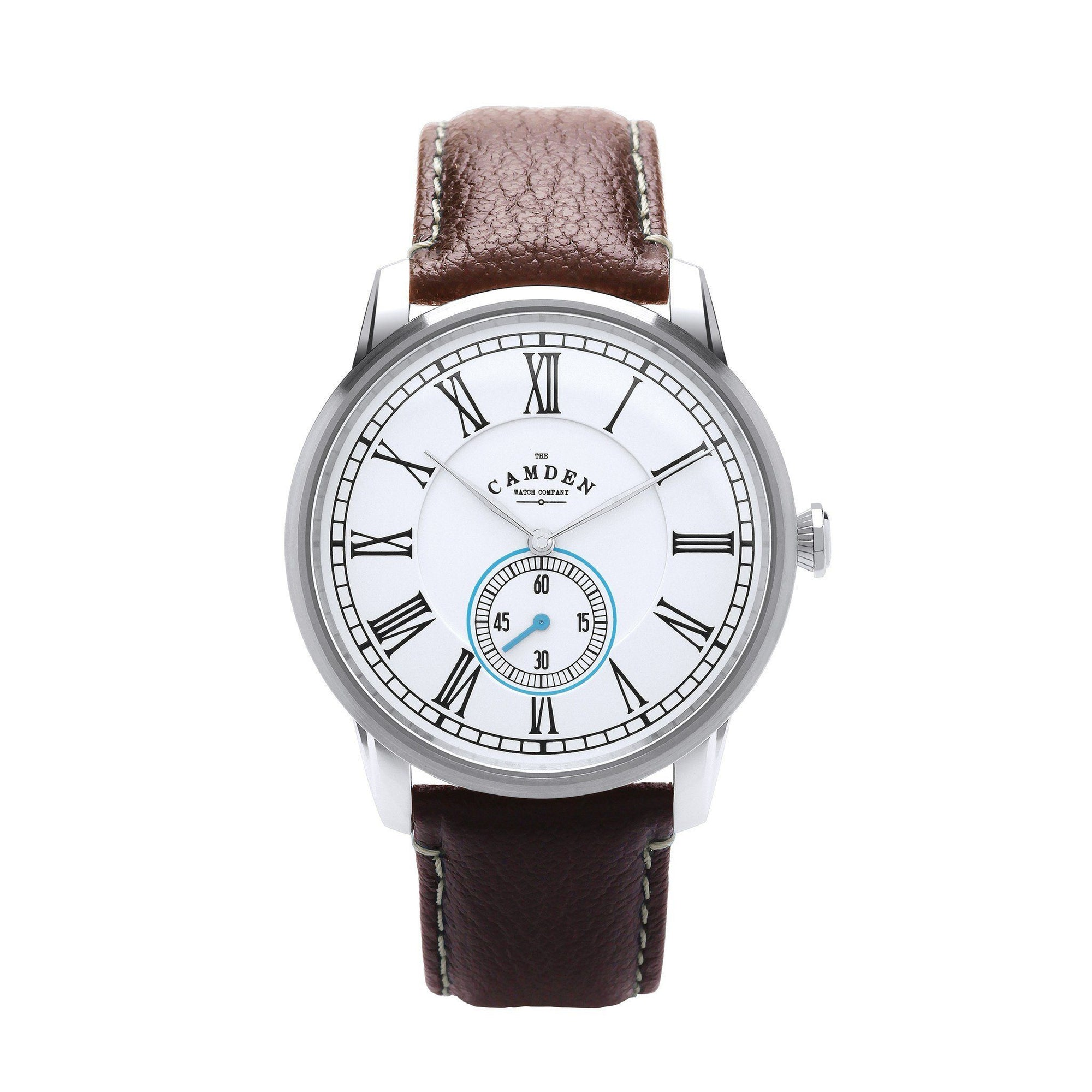 No.29 Gents Camden Watch Steel, Brown And Blue