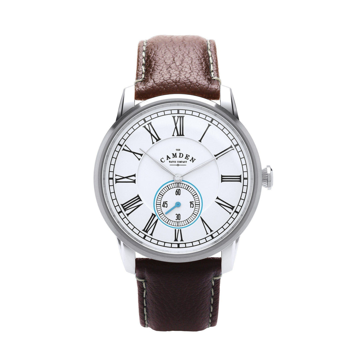 No.29 Gents Camden Watch -Steel, Brown And Blue