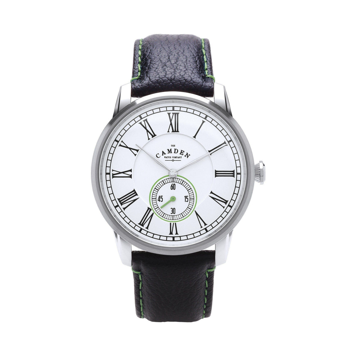 No.29 Gents Camden Watch -Steel, Black And Green