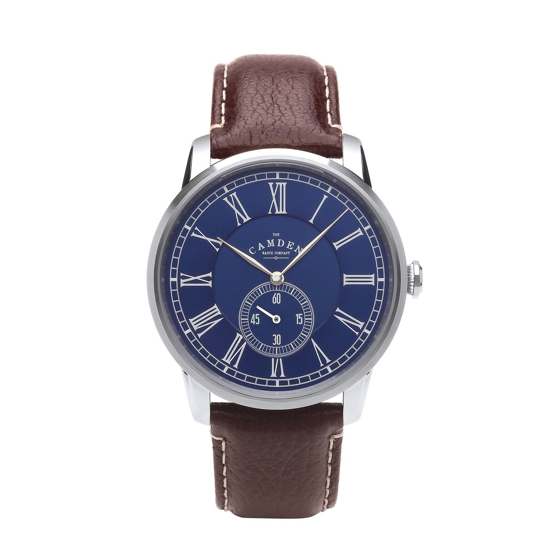 f2fe2a4f4 No.29 Gents British Watch Brown strap And Blue Dial. The Camden Watch  Company ...