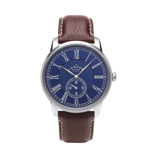 No.29 Gents British Watch Brown strap And Blue Dial