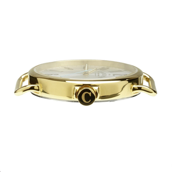No.88 Unisex Gold And Black Leather Camden Watch