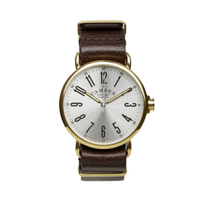 No.88 Unisex Gold And Brown Leather British Watch