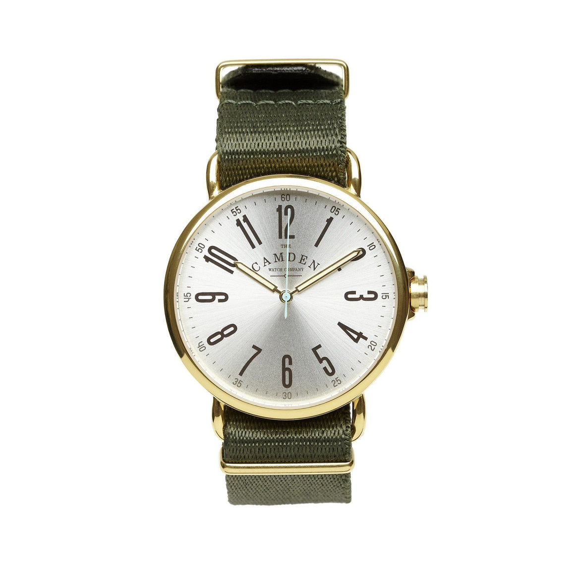 No.88 Unisex Gold And Green Nato Vintage Watch