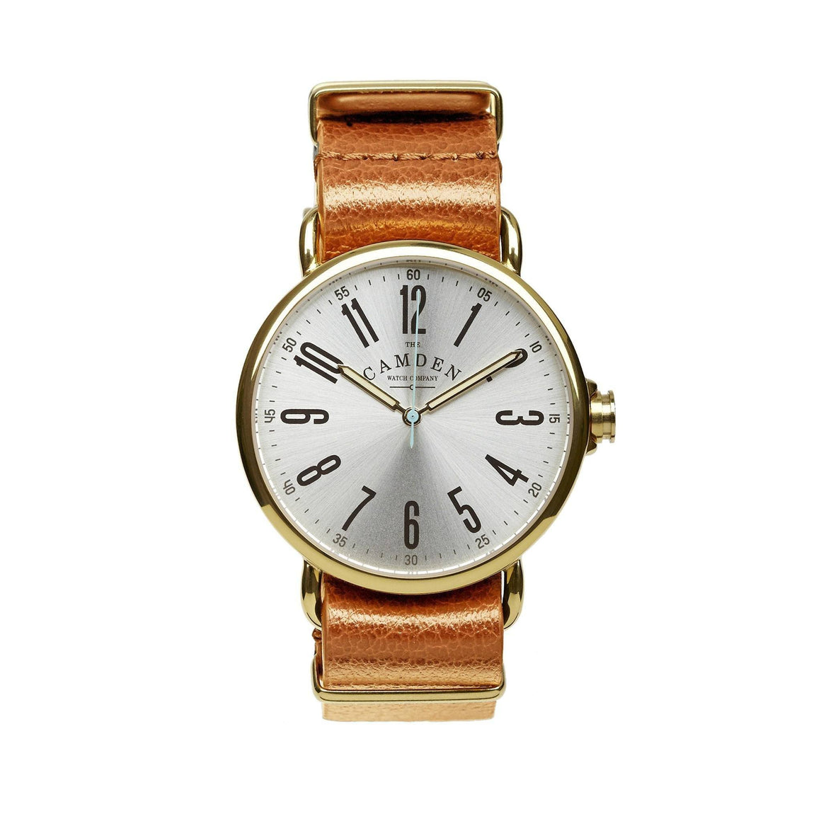 No.88 Gold And Tan Leather British Gents Watch