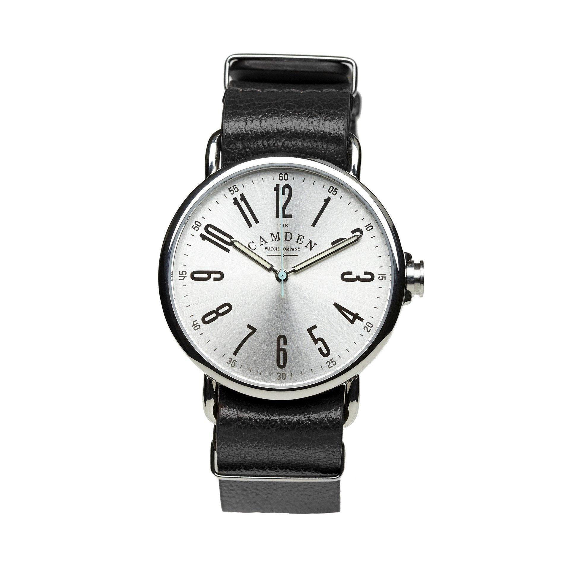 8429d98eeaddf No.88 Steel and Black Leather - The Camden Watch Company