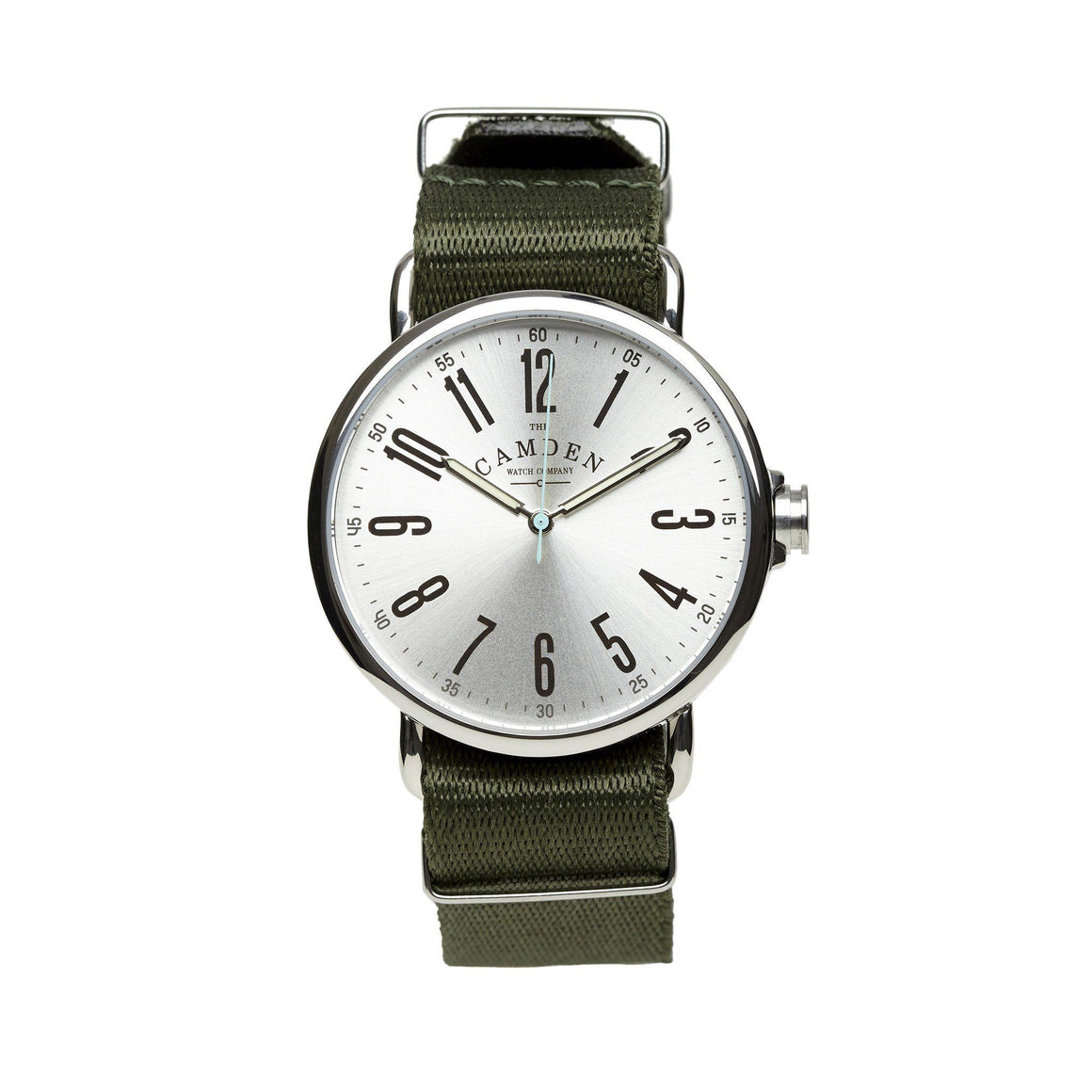 No.88 Vintage Steel Green Nato Watch