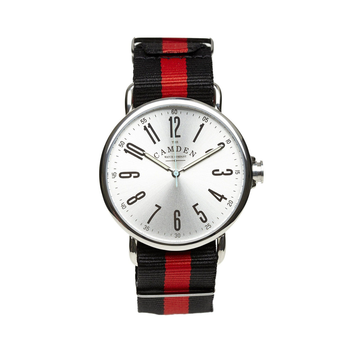 No.88 Steel Watch And Red & Black Nato