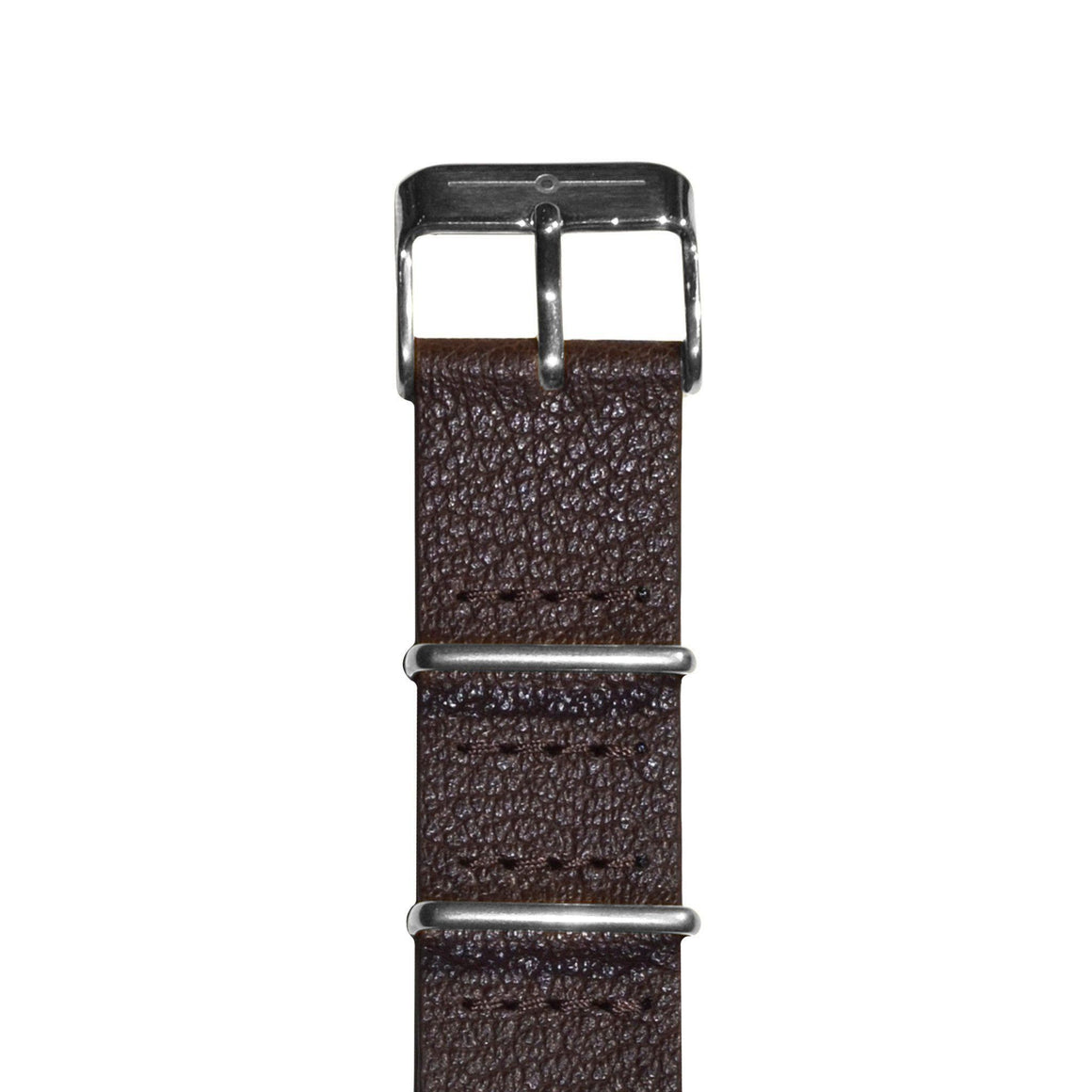 Strap - Brown Leather And Steel NATO