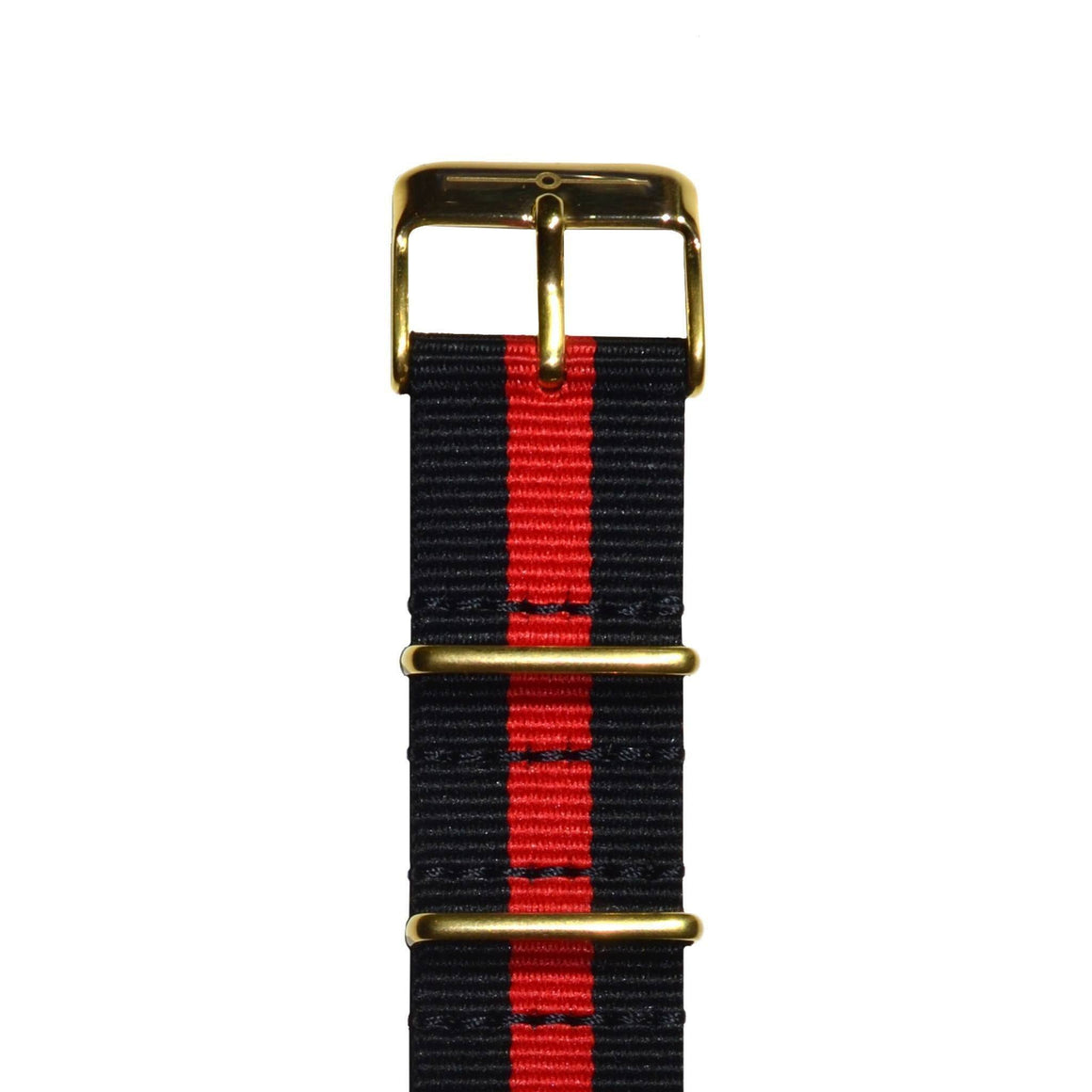 Strap - Red And Black Gold NATO