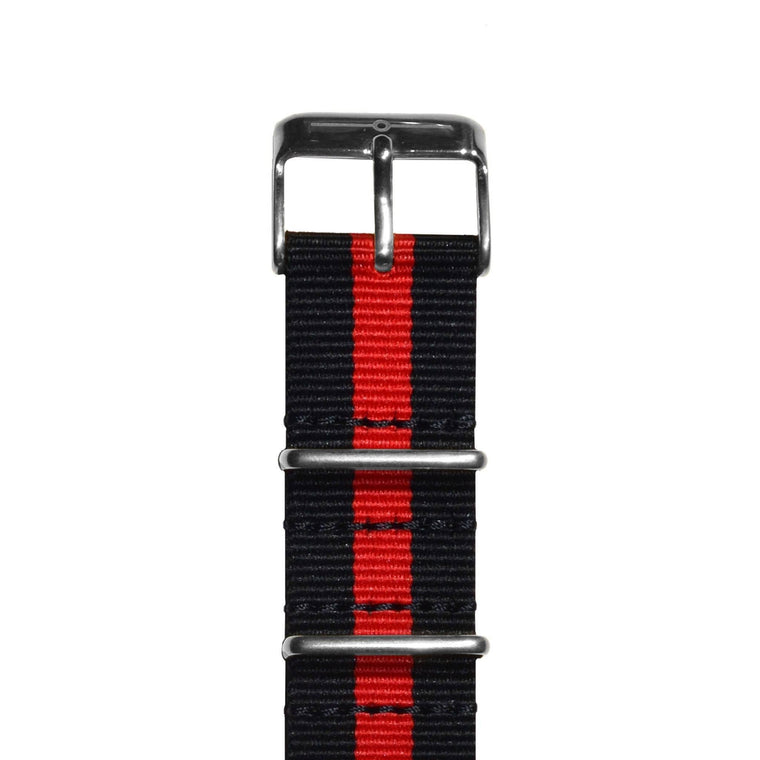 Strap - Red And Black Steel NATO