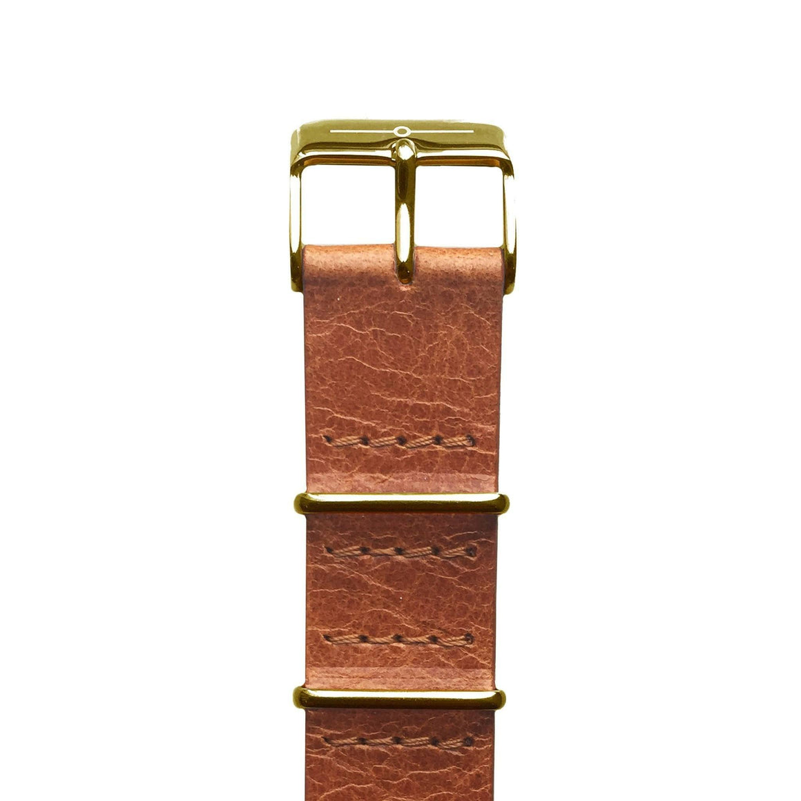 Strap - Tan Leather And Gold NATO