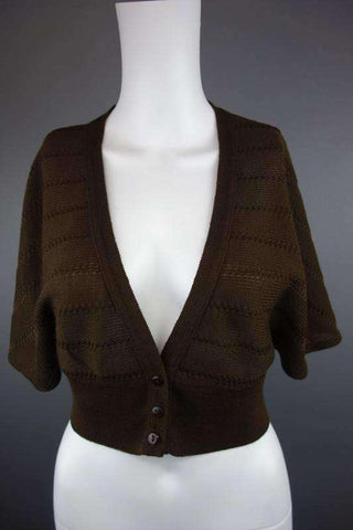 Brown Cardigan Shrug Bolero Size UK 12 (EUR 40) - £7.50