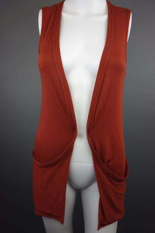 New Look Brown Sleeveless Cardigan Size UK 8 (EUR 36) - £7.50