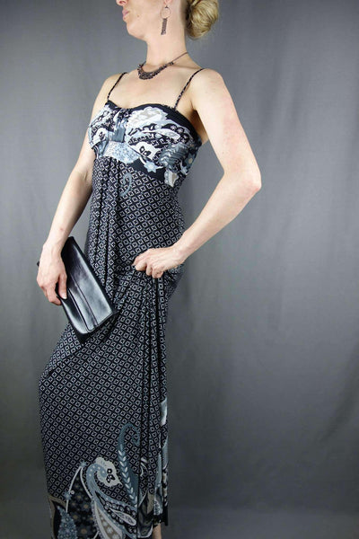 Black Maxi Party Summer Dress by Therapy Size 10